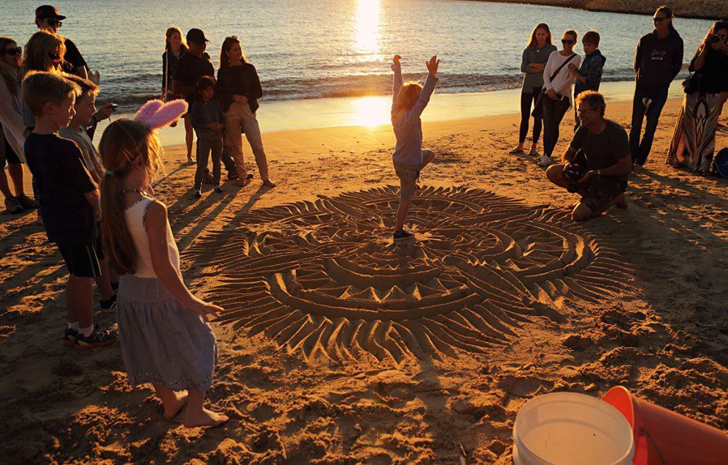 Beach Calligrapher